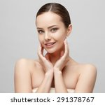 beautiful face of young woman... | Shutterstock . vector #291378767
