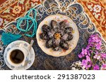 food on decorated table | Shutterstock . vector #291387023