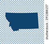 map of montana | Shutterstock .eps vector #291388157