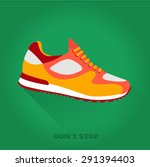 vector icon shoes for training. ... | Shutterstock .eps vector #291394403
