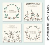 vector set  floral wreath and... | Shutterstock .eps vector #291414293