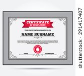 certificate of completion.... | Shutterstock .eps vector #291417407