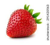 strawberry isolated on white... | Shutterstock . vector #291420563