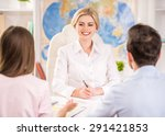 couple sitting at tourist... | Shutterstock . vector #291421853