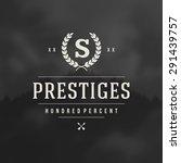 luxury design element in...   Shutterstock .eps vector #291439757