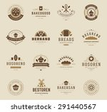 bakery shop logos  badges and... | Shutterstock .eps vector #291440567