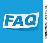 sticker with text faq  isolated ...