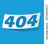 sticker with text 404  isolated ...