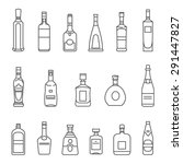 alcohol bottles. set of black... | Shutterstock .eps vector #291447827