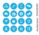 communication icons universal... | Shutterstock .eps vector #291459593