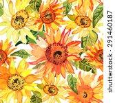 vector illustration of floral... | Shutterstock .eps vector #291460187