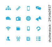 communication icons universal... | Shutterstock .eps vector #291460937
