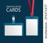 badge identification white... | Shutterstock .eps vector #291471377
