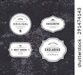 Set of Hipster Labels with Frames. Authentic Retro Vector Tags Design. Minimalistic Craft Beer Badges. | Shutterstock vector #291474143
