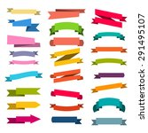 paper sticker  banner... | Shutterstock .eps vector #291495107