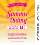 summer outing event and save... | Shutterstock .eps vector #291497483