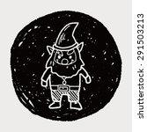 elf doodle | Shutterstock .eps vector #291503213