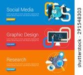flat design concept. set of... | Shutterstock .eps vector #291548303