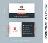 Vector Modern Creative and Clean Business Card Template | Shutterstock vector #291548753