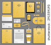 corporate identity template set.... | Shutterstock .eps vector #291559193