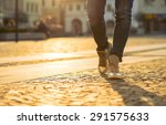 womansfoots on the street at... | Shutterstock . vector #291575633