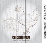 chicken farm background. | Shutterstock .eps vector #291576497