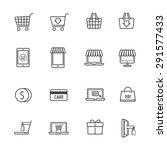 shopping online icons | Shutterstock .eps vector #291577433