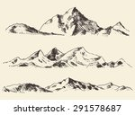 Mountains Sketch  Contours Of...