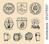old brewery logos set. kraft... | Shutterstock .eps vector #291579557