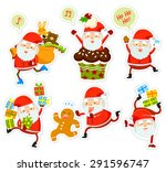 collection of funny cartoon... | Shutterstock . vector #291596747