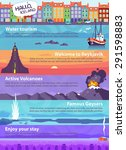 colorful vector travel banners... | Shutterstock .eps vector #291598883