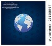 world globe vector illustration. | Shutterstock .eps vector #291608957