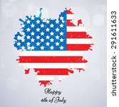 u.s.a independence day... | Shutterstock .eps vector #291611633