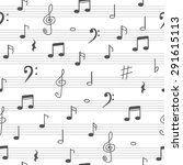 music seamless pattern... | Shutterstock .eps vector #291615113