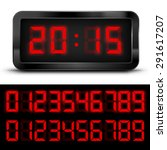 Digital  Clock With Liquid...