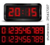 Digital  Clock With Liquid...