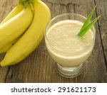 Banana Smoothie In A Glass Is...