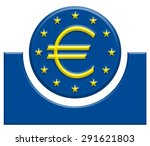 european union bank symbol | Shutterstock . vector #291621803