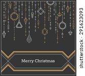 Christmas Postcard  Art Deco...