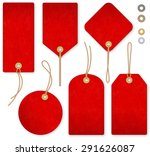 a set of high detail red grunge ... | Shutterstock .eps vector #291626087