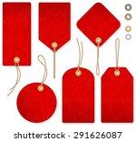 a set of high detail red grunge ... | Shutterstock .eps vector #291626087