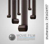 film strip background  movie... | Shutterstock .eps vector #291626957