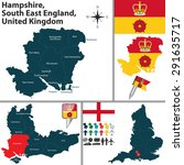 vector map of hampshire  south... | Shutterstock .eps vector #291635717