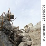 Rubble And Twisted Metal On A...