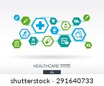 hexagon abstract. medicine... | Shutterstock .eps vector #291640733