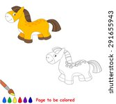 baby toy horse. kid game.... | Shutterstock .eps vector #291655943