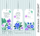 gift tags set for design.... | Shutterstock .eps vector #291661847