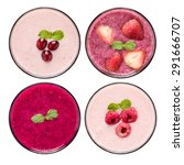 set of fruit smoothie in... | Shutterstock . vector #291666707