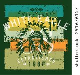 chief trail guest house  print... | Shutterstock .eps vector #291676157