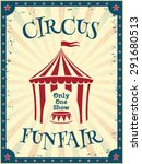 vintage circus poster. funfair. ... | Shutterstock .eps vector #291680513